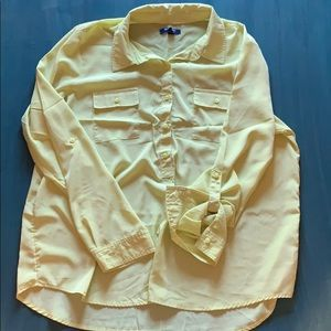 Old Navy blouse 3/4 button down.